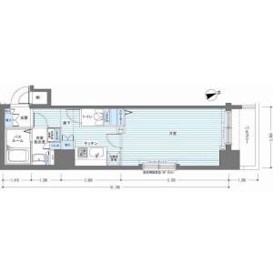 1K Mansion in Minato - Chuo-ku Floorplan