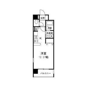 1K Mansion in Chishima - Osaka-shi Taisho-ku Floorplan