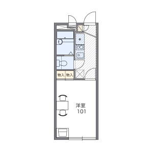 1K Apartment in Nagayoshinagahara - Osaka-shi Hirano-ku Floorplan