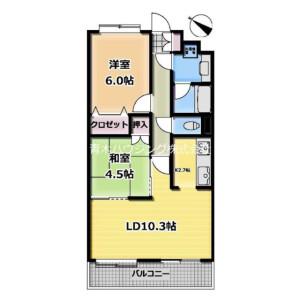 2LDK Mansion in Kitashinagawa(1-4-chome) - Shinagawa-ku Floorplan