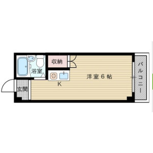 1R Mansion in Shimoshinjo - Osaka-shi Higashiyodogawa-ku Floorplan