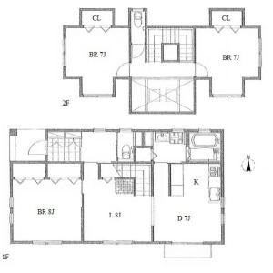 名古屋市名東区一社-3LDK独栋住宅 楼层布局