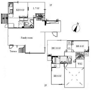 名古屋市名東区社台-4SLDK独栋住宅 楼层布局