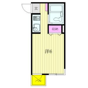 杉並區阿佐谷北-1R公寓大廈 房間格局