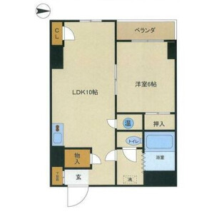 1LDK Mansion in Nishigotanda - Shinagawa-ku Floorplan
