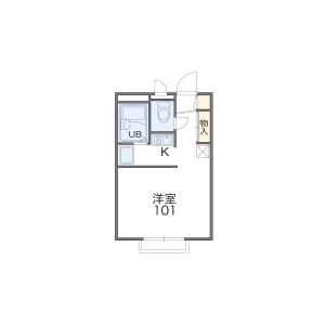 1K Apartment in Kemacho - Osaka-shi Miyakojima-ku Floorplan