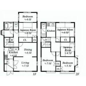 6LDK {building type} in Funabashi - Setagaya-ku Floorplan