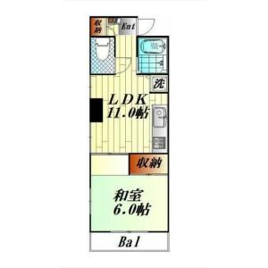 1LDK Mansion in Nishishinagawa - Shinagawa-ku Floorplan