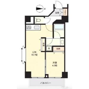 1LDK Apartment in Higashiueno - Taito-ku Floorplan