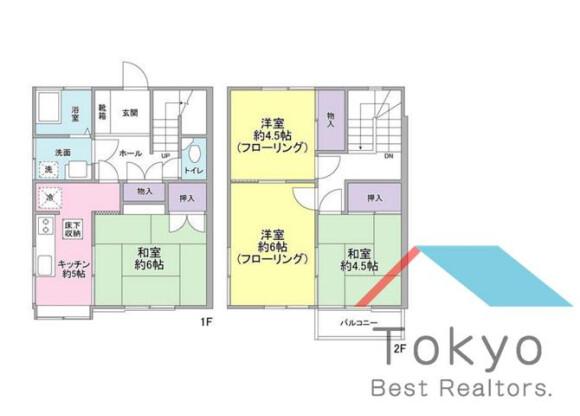 4K House to Rent in Nakano-ku Floorplan