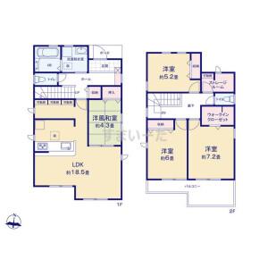 4LDK {building type} in Kotesashiminami - Tokorozawa-shi Floorplan