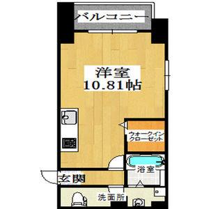 大阪市西区 西本町 1K マンション 間取り