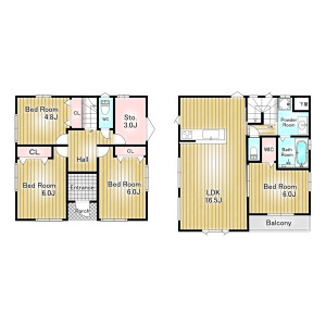 3LDK {building type} in Kairaku - Urayasu-shi Floorplan