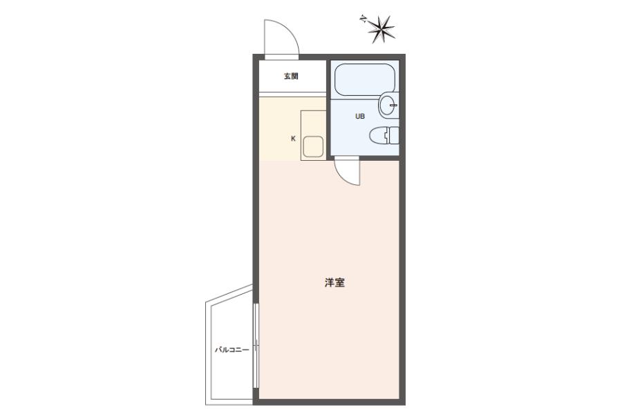 在Suginami-ku購買1R 公寓的房產 房間格局