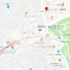 在新宿區內租賃1K 公寓大廈 的房產 地圖