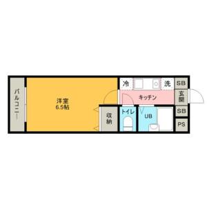 埼玉市大宮区桜木町-1K公寓大厦 楼层布局