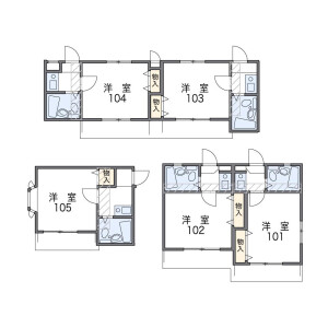 1K Apartment in Isoda - Fukuoka-shi Hakata-ku Floorplan
