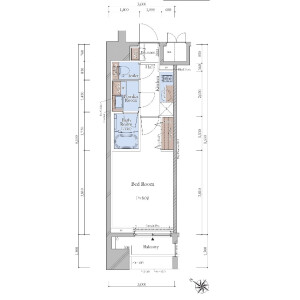 豊岛区北大塚-1K{building type} 楼层布局