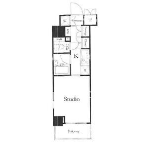 1K {building type} in Nihombashihamacho - Chuo-ku Floorplan