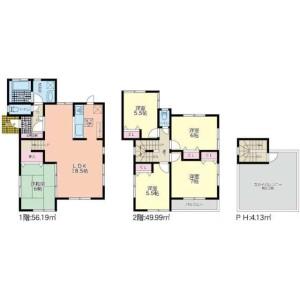 5LDK House in Arai - Sendai-shi Wakabayashi-ku Floorplan
