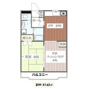 2DK Mansion in Nishikasai - Edogawa-ku Floorplan