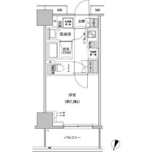 1K Apartment in Hommachi - Shibuya-ku Floorplan