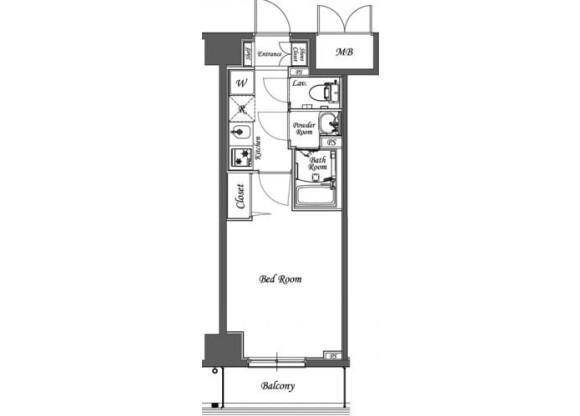 1K Apartment to Rent in Hatogaya-shi Floorplan