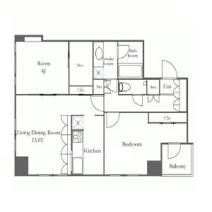 2LDK Apartment in Sarugakucho - Shibuya-ku Floorplan