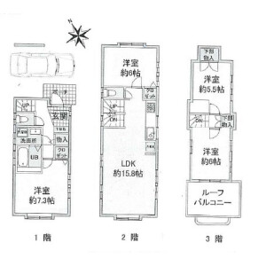 4LDK House in Kamiuma - Setagaya-ku Floorplan