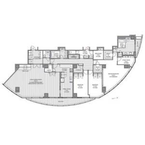 3SLDK Mansion in Atago - Minato-ku Floorplan