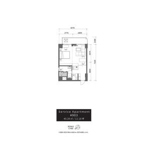 渋谷区 - 服務式公寓 房間格局