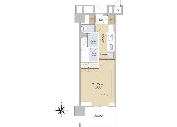1K Apartment to Buy in Bunkyo-ku Floorplan