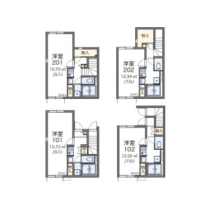 1K Apartment in Koenjikita - Suginami-ku Floorplan