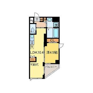 1LDK Mansion in Kosugimachi - Kawasaki-shi Nakahara-ku Floorplan