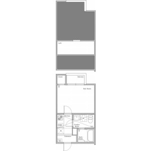 1K Apartment in Owada - Yachiyo-shi Floorplan