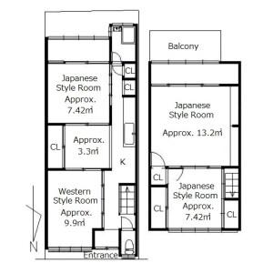 4K {building type} in Imagumano ikedacho - Kyoto-shi Higashiyama-ku Floorplan