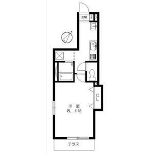 中野区江原町-1K公寓大厦 楼层布局