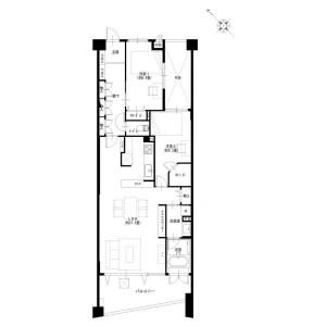 2LDK {building type} in Zaimokuza - Kamakura-shi Floorplan