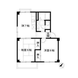 2DK Mansion in Kitanaka - Tokorozawa-shi Floorplan