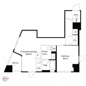 1LDK Mansion in Nishigahara - Kita-ku Floorplan