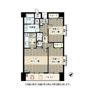 2LDK Apartment in Shoto - Shibuya-ku Floorplan
