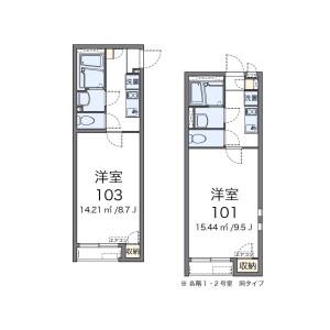 1K Apartment in Aoi(1-3-chome) - Adachi-ku Floorplan