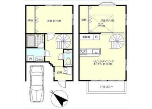 2LDK Terrace house to Rent in Setagaya-ku Floorplan