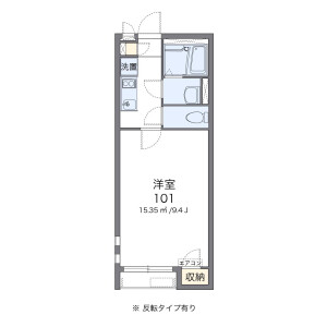 1R Apartment in Koya - Matsudo-shi Floorplan