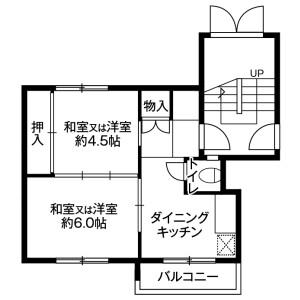 札幌市丰平区福住二条-2K公寓大厦 楼层布局