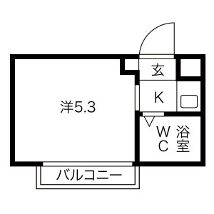 1R Mansion in Hanazono higashimachi - Higashiosaka-shi Floorplan