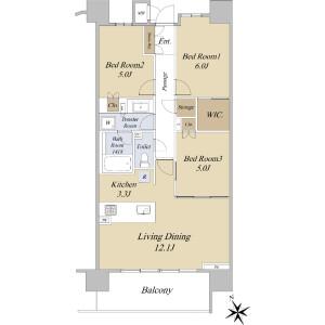 3LDK {building type} in Shimouma - Setagaya-ku Floorplan