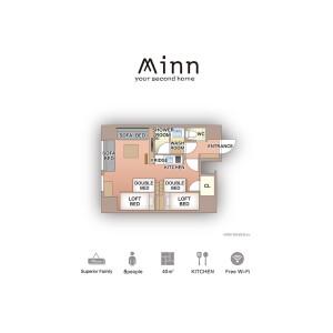 台東区 サービスアパートメント Minn上野  間取り