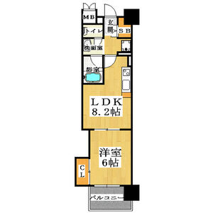 1LDK Mansion in Sakuragawa - Osaka-shi Naniwa-ku Floorplan