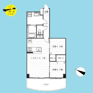2LDK {building type} in Sakashita - Itabashi-ku Floorplan